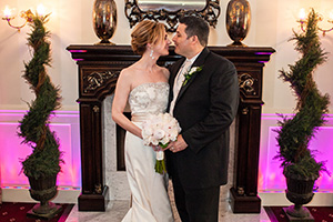 bride and groom at The Country House