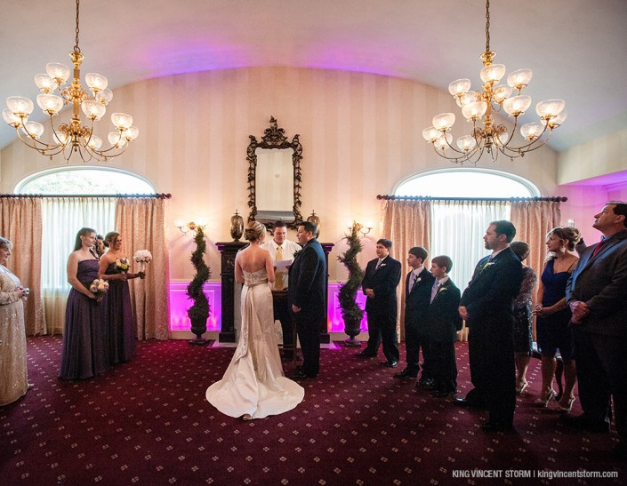 An indoor ceremony at The Country House