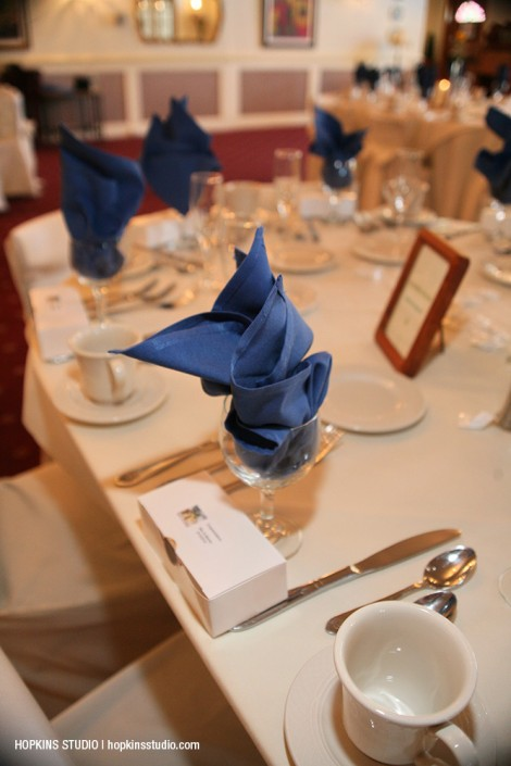 Blue table at The Country House